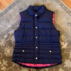 Lilly Pulitzer XL navy down puffy vest